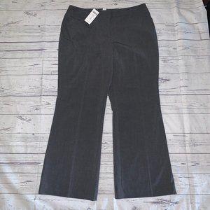CHICO'S MAGIQUE Gray Flare Leg Trouser Pants Sz 12